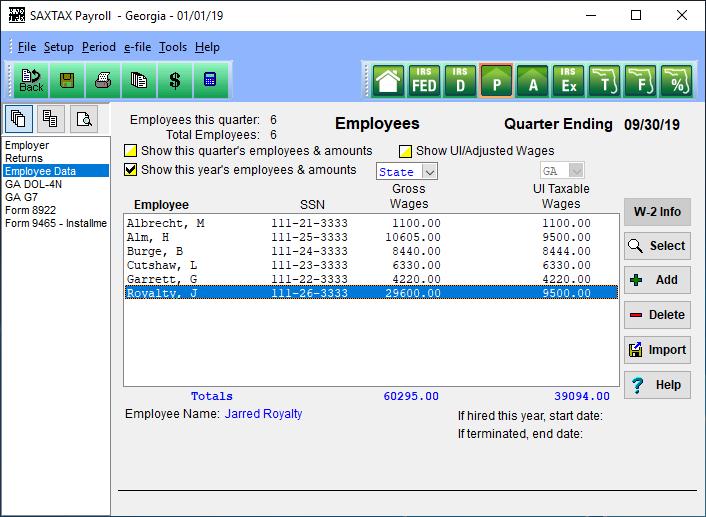 Payroll Employees